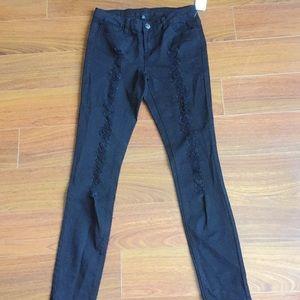 NWT Black Ripped Skinny Jeans